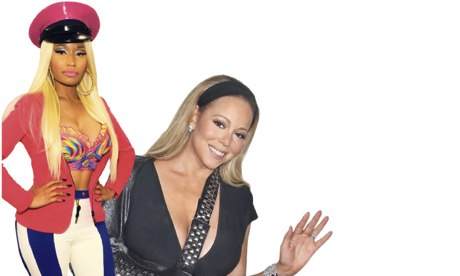 Working with Satan? Mariah Carey and American Idol co-judge Nicki ...