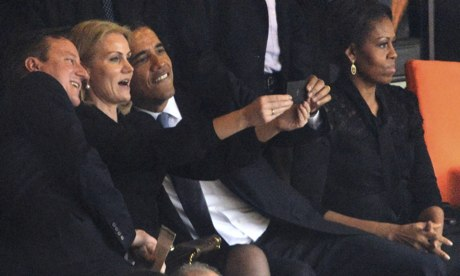 Helle Thorning Schmidt selfie