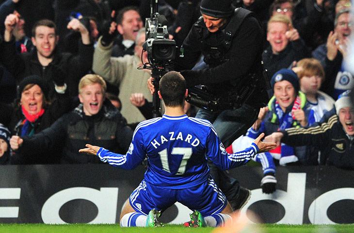football--: Chelsea's Belgian midfielder Eden Hazard