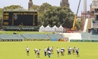 England practise on the Adelaide Oval