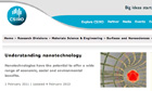 CSIRO website on nanotechnology