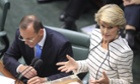 Julie Bishop and Tony Abbott in question time