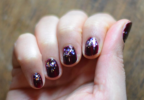 glitter nails made easy  fashion  the guardian