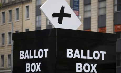 Mock ballot box in Bristol