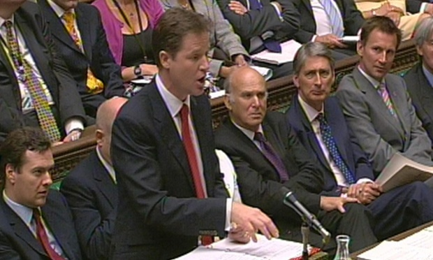 Nick Clegg is taking PMQs today, because David Cameron is still in China.