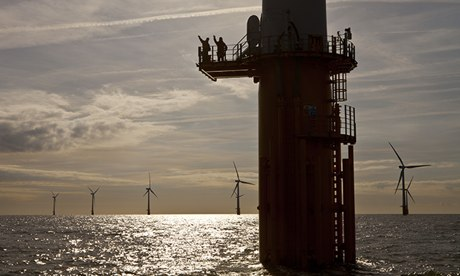 Thanet offshore wind turbines near Ramsgate, Kent