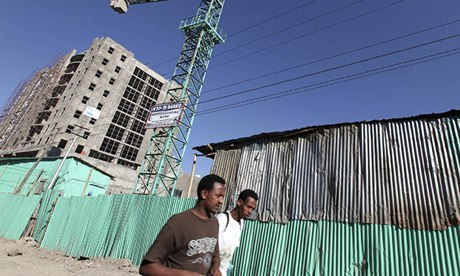 Ethiopia's capital Addis Ababa, office block construction