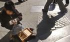 Shoeshine boy Esteban Quispe