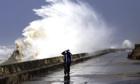 High wave on Blackpool coast, UK 2011