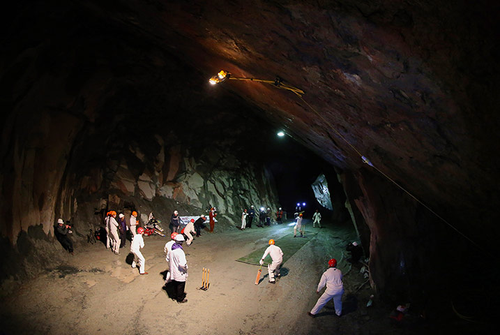 Underground Cricket The World S First Subterranean Match