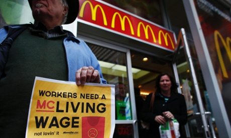US fast-food workers strike over low wages in nationwide protests
