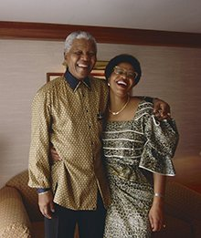 Nelson Mandela and Graça Machel