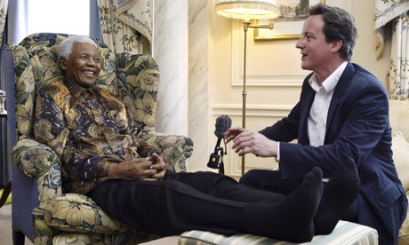 Nelson Mandela and David Cameron
