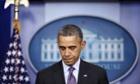 Barack Obama makes a statement on the death of Nelson Mandela.