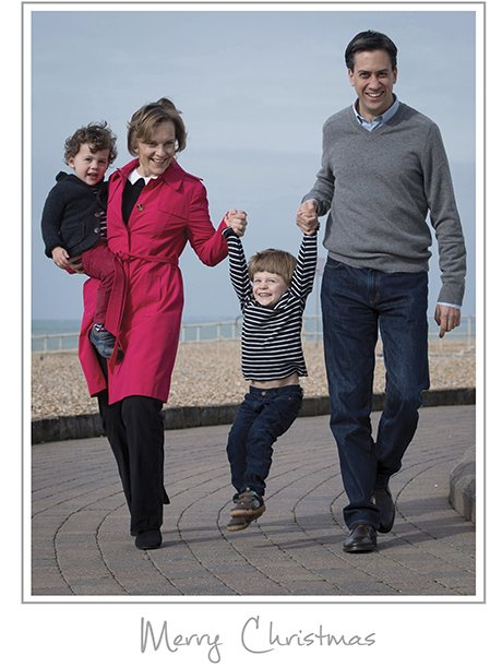 Miliband family Christmas card 2013