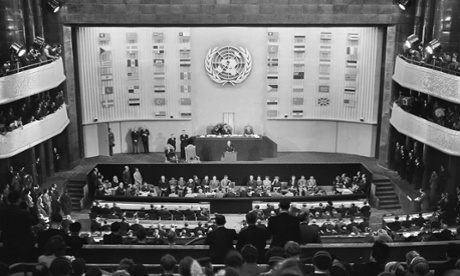 December 12, 1948 in Paris: the UN general assembly adopts the Universal Declaration of Human Rights.