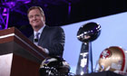 NFL commissioner Roger Goodell gives a press conference before Super Bowl LXVII in New Orleans