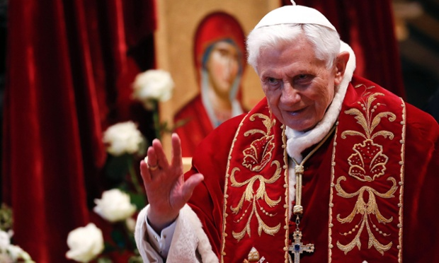 Pope Benedict XVI during a mass at the Vatican on 9 February 2013.