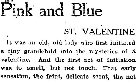 Guardian column on Valentine's cards 1926