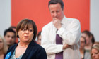 Conservative candidate Maria Hutchings campaigns for the Eastleigh byelection with David Cameron