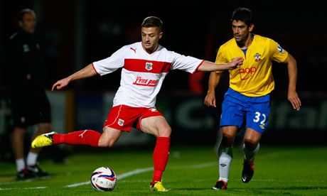 Robbie Rogers in action for Stevenage