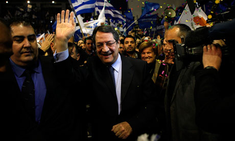 Rightwing candidate Nicos Anastasiades is expected to win Cyprus's presidential election