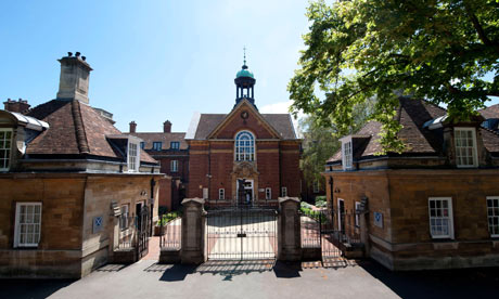 The front of St Hughs College Oxford
