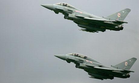 Eurofighter Typhoon jets