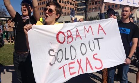 Keystone XL protest in Austin