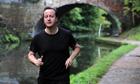 David Cameron running