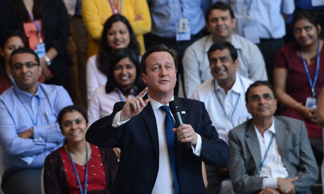 David Cameron in Mumbai, India