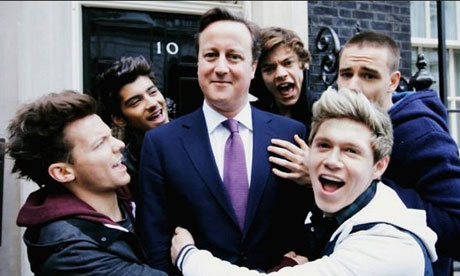 David Cameron and One Direction for Comic Relief