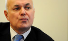 Geologists erupt after Iain Duncan Smith shelf-stacking jibe