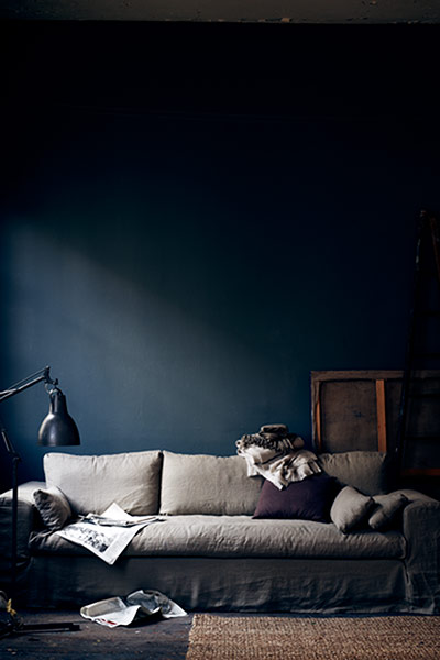 the new interiors colour palette aubergine and indigo in pictures life and style the guardian. Black Bedroom Furniture Sets. Home Design Ideas