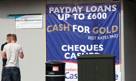 payday loans and cash for gold sign