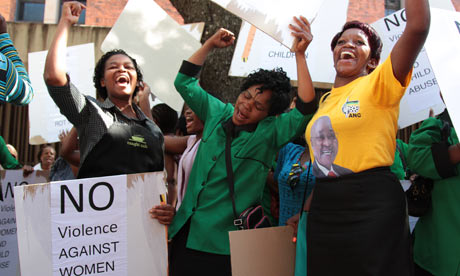 anc women s league protesters outside the court where oscar pistorius