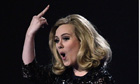 Adele at Brit awards 2012