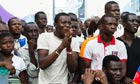 Ghana supporters in Accra watch the Black Stars beat Cape Verde