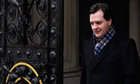 George Osborne walking