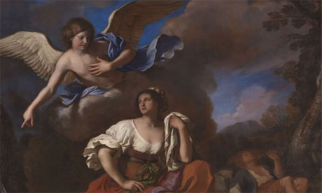 Guercino, The Angel appears to Hagar and Ishmael