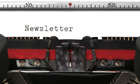 Newsletter on an old typewriter genuine font