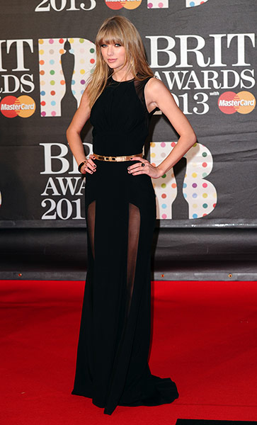 Brits 2013 red carpet: The Brit Awards, Arrivals, O2 Arena, London, Britain - 20th February 2013