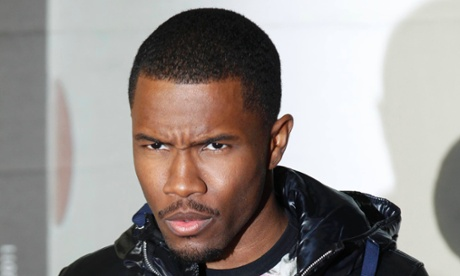 Happy to be here … Frank Ocean at the Brit awards 2013