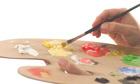 Artist Mixing Paints