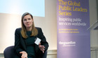 Karin Svanborg-Sjovall at the Guardian Public Leaders Summit
