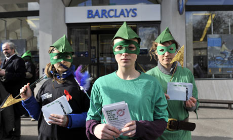Robin Hood Tax campaigners, London