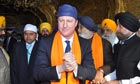 **BESTPIX** Cameron Pays Obeisance At Golden Temple