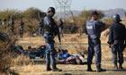 South African police at Marikana