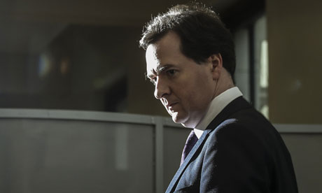 British Chancellor of the Exchequer George Osborne borrowing forecasts