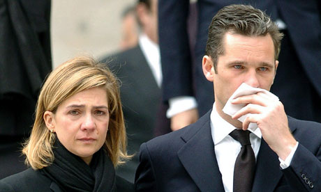 Princess Cristina and her husband, Inaki Urdangarin.